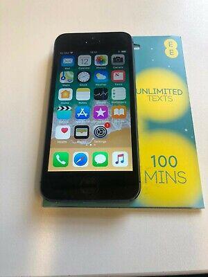***Apple iphone 5s 16gb Black   ** EE ** +SIM CARD