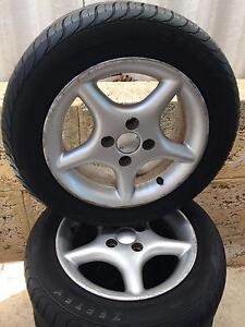 Alloy rims- 14 x 5.5 inch and tyres Greenwood Joondalup Area Preview