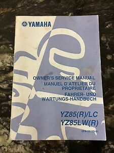 YZ85 Owners Manual