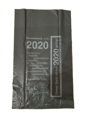 5 x 20 l AHA-Restabfallsäcke 2020, Abfallsäcke, Restmüllsäcke, Region Hannover
