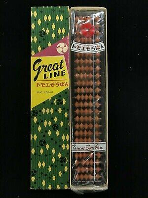 Great Line ABACUS vintage Tomoe Wood Soroban 25 column in box!