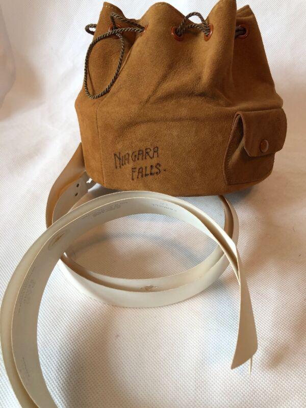 Antique Victorian mens shirt collar Case Niagara Falls + 2 collars PAR Brand