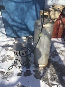 Propane heater and large tank
