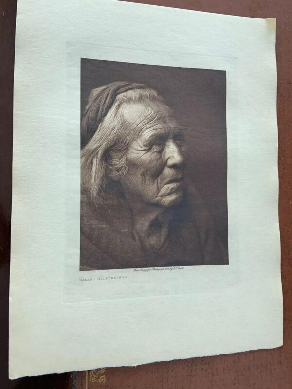 Edward Curtis photogravure Medicine Man Navaho photo authentic