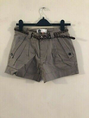 BNWT Ichi green belted shorts size XS, S, M, L