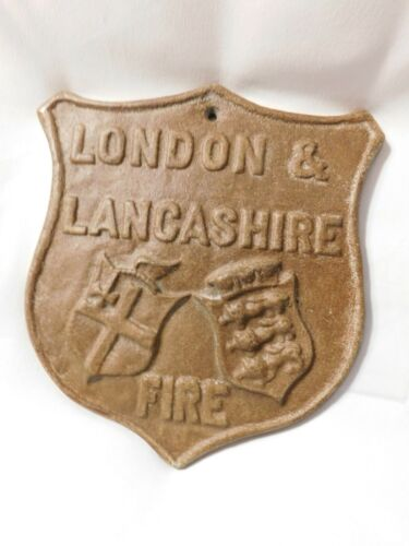 London and Lancashire Fire Sign England Plaque VTG