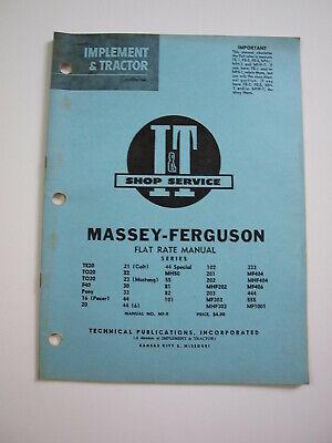 Massey-harris-ferguson Teto2030 40 Pony 16 21 23 44 50 55 333 Tractor Manual