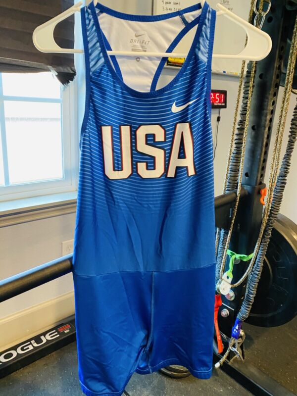 Nike USA Team Track / Wrestling Singlet, Size Mens Medium Weightlifting