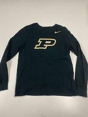 Purdue Boilermakers Nike Mens T-Shirt Medium Long Sleeve Logo Graphic