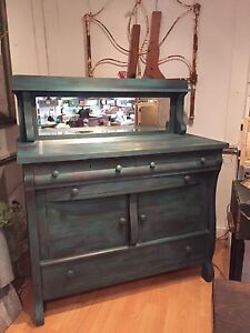 Beautiful Antique Buffet with Mirror