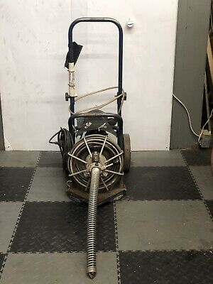 Used Electric Eel Z5 12 X 50 Autofeed Sewer Snake Pipe Cleaner Floor Drain