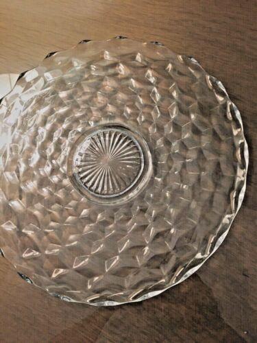 "American Fostoria 14"" Round Torte  Plate Footed"