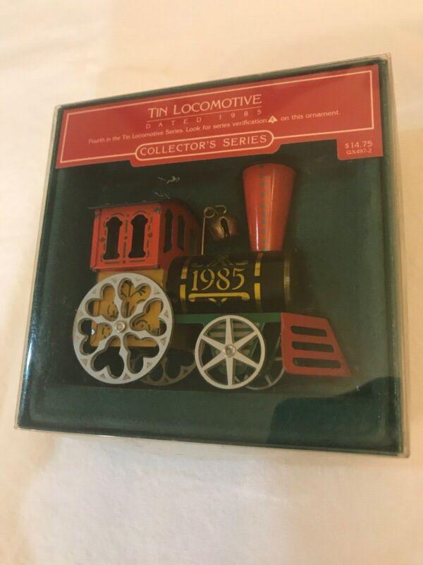 Hallmark Tin Train Engine Locomotive 1985 Christmas Ornament Series #4