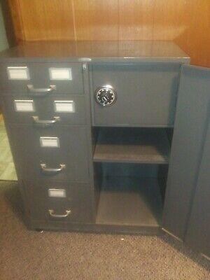 Vintage Cole Steel File Cabinet Safe Combo
