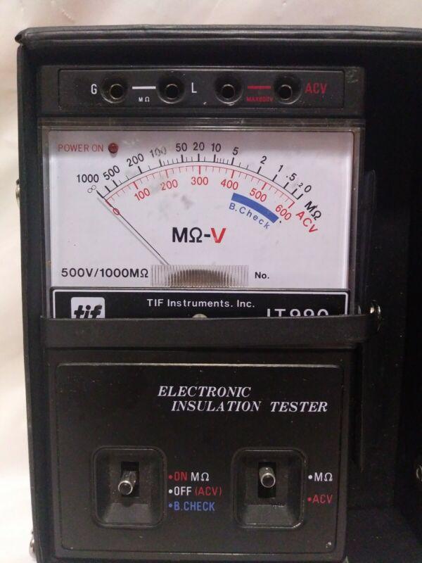 TIF Megohmmeter-Insulation Tester IT990