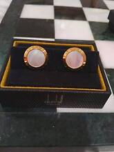 Dunhill Gold-Plated Mother Of Pearl Cufflinks Winthrop Melville Area Preview