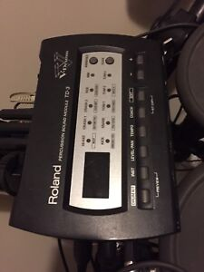Roland TD-3 Drum Module and Double Kick Pedal