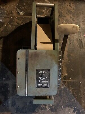 Marsh Model 5 Ht Manual Gummed Tape Dispenser Hand Taper Used Missing Reservoir