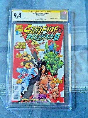 Sunfire & Big Hero 6 #1 Signed by Stan Lee CGC 9.4 Baymax Marvel ()