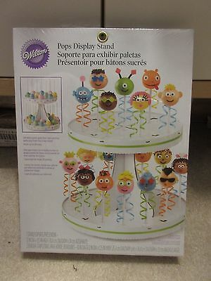 CAKE POP DISPLAY STAND - Wilton - White - Cardboard - Holds 28 Pops - NEW - Cardboard Cake Stand