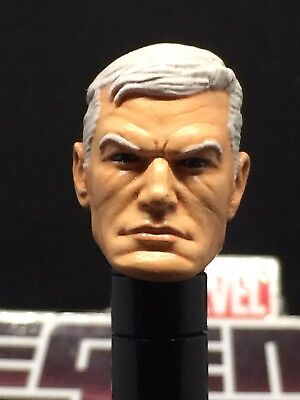 MARVEL LEGENDS PAINTED/FITTED OLD MAN STEVE ROGERS (CAP.AMERICA) 1:12 HEAD CAST (Steve Head)