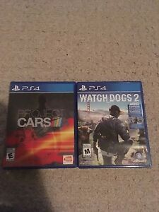2 games watch dogs 2 and project cars ps4