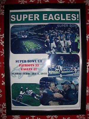 Philadelphia Eagles 41 New England Patriots 33 - 2018 Super Bowl - framed print