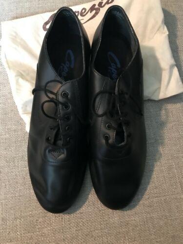 Capezio Mens Black Leather Shoe  Sizes 8.5 M  EUC*