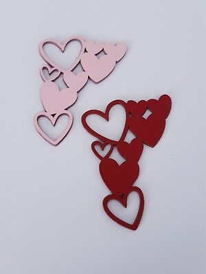 Valentines Day Heart Die Cut Outs ( Card Making, Scrap Booking, Garlands, Party