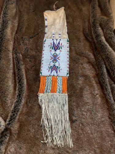 Antique Old Sioux Pipe Bag. C. 1890