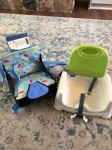 Baby travel booster seat, foldable and regular seat combo