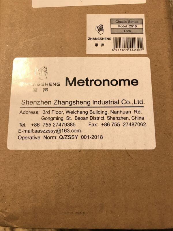 Mälzel Metronome Clock With Bell Pink