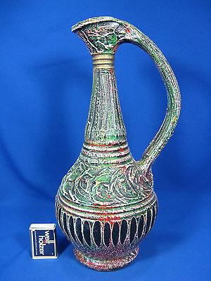 "Strange ""ugly beauty "" 50´s design pottery  jug vase / Krug Vase  Italy"