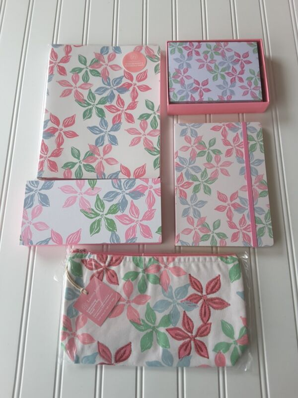 Lauren James Set Lot Accessory Bag, Pocket and Spiral Notebooks, Notecards, More