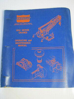 American 800 Series Crane Operation Maintenance Manual