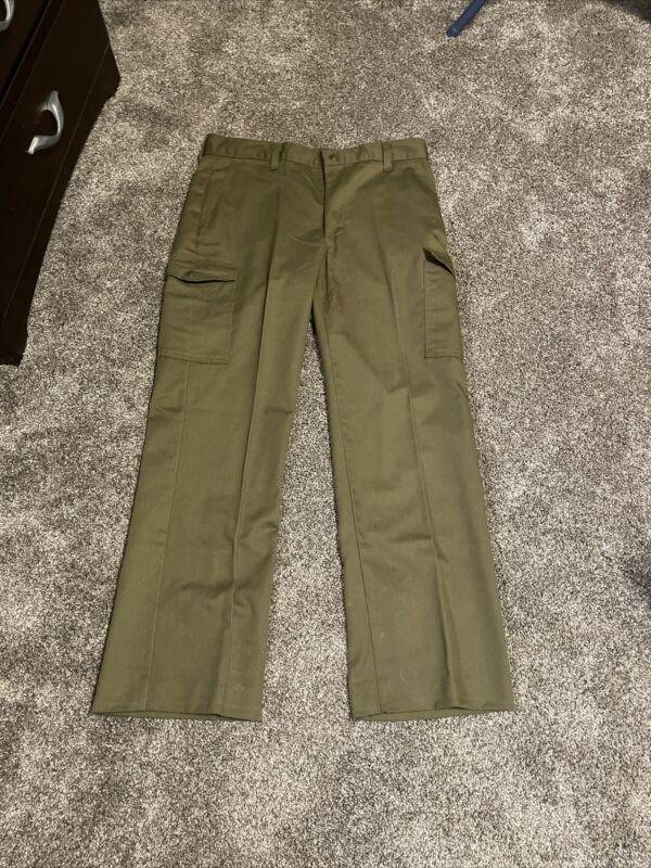 Boy Scouts of America Vintage OD Green Cargo Pants Troop Uniform Pants 32x31