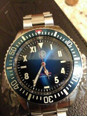 NTH Nazario Azzuro Blue Fume Diver's Watch 40mm 300m Miyota 9039 Automatic VGC