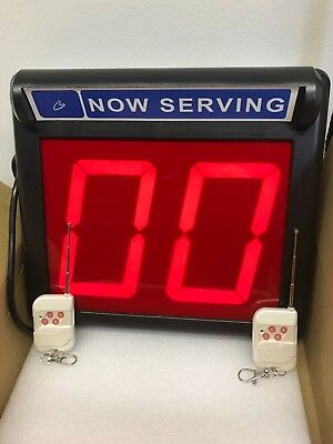 """Take a Number System / Number Display/ Up Down counter -5 1/4"""" LED Display"""