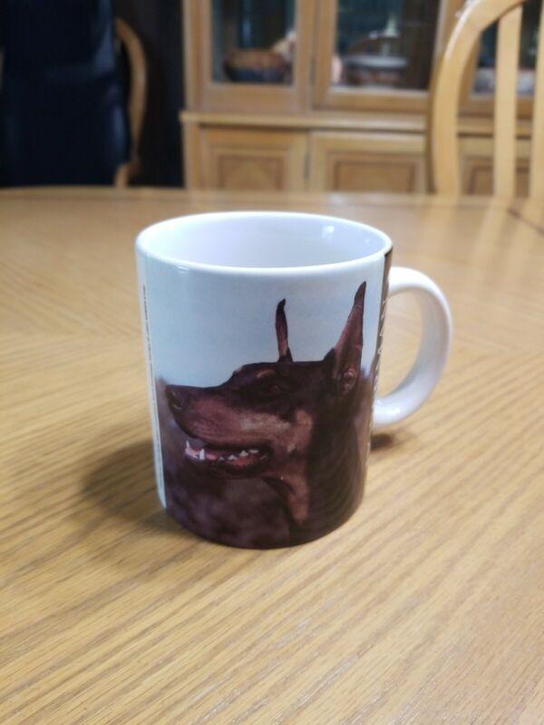 Collectible Doberman Dog Coffee Mug Cup - Photo by Sally Klein XPRES Corp. 1993