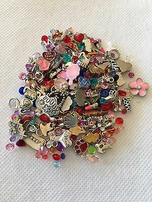 Floating Memory Charms For Glass Living Memory Locket. Mixed Lot 30