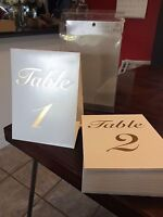 Table number tents 1-20