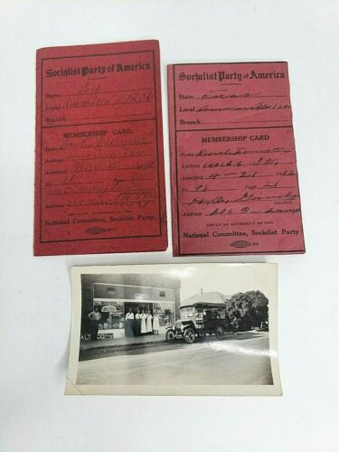 1912 Socialist Labor Party of America Membership Cards Dues Stamps, Signed by...