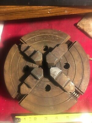 6 Inch South Bend Skinner Lathe Chuck 4006-50 With 3 Post Mount And Key