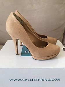 Size 7 Beige Suede Pumps from Call It Spring