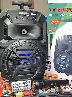 "bluetooth B T speaker 6,5"" 1800mAh Mic Remote Fm Radio Best Quality Clear & Lou"