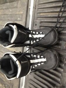 Snowboarding boots.