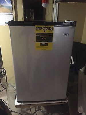 4.5 cu. ft. Mini Compact Refrigerator Virtual Steel Finish Door Refrigerator