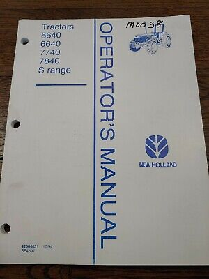 New Holland 5640 6640 7740 7840 S Range Tractor No Cab Owner Operator Manual 94