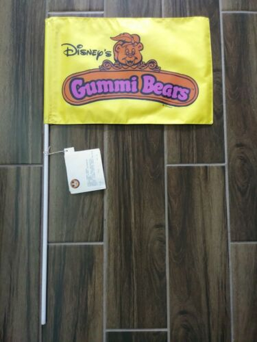 Rare Disneyland Gummi Bears Small World Flag Sign Display Prop Disney Afternoon