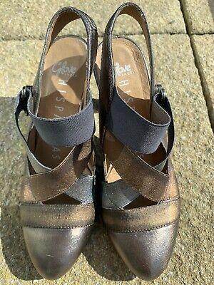Gorgeous Hispanitas Mettalic Leather Shoes Size UK 3 EU 36